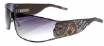 Ed Hardy EHS-018 LA Dog Sunglasses - Gun/Gray