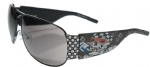 Ed Hardy EHS-019 Speed Kills Sunglasses - Black/Gray