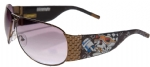 Ed Hardy EHS-019 Speed Kills Sunglasses - Cocoa/Brown