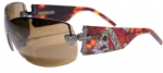 Ed Hardy EHS-023 Zeke Graphics Sunglasses - Tortoise/Brown