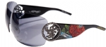 Ed Hardy EHS-024 Beyonce 2 Sunglasses - Black/Gray