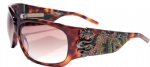Ed Hardy EHS-025 Geisha & Dragon Sunglasses - Tortoise/Brown