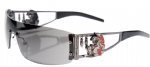 Ed Hardy EHS-026 Rabbit Sunglasses - Black/Gray