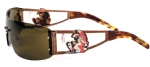 Ed Hardy EHS-026 Rabbit Sunglasses - Cocoa/Brown