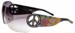 Ed Hardy EHS-027 Pin UP2 Graphics Sunglasses - Black