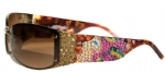 Ed Hardy EHS-028 Medusa Sunglasses - Cocoa/Brown