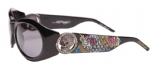 Ed Hardy EHS-032 King Sunglasses - Black/Gray