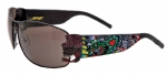 Ed Hardy EHS-034 Crunk Rock Sunglasses - Black/Gray