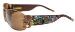 Ed Hardy EHS-034 Crunk Rock Sunglasses - Cocoa/Brown