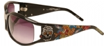 Ed Hardy EHS-035 Death or Glory 2 Sunglasses - Black