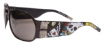 Ed Hardy EHS-037 Winner Take All Sunglasses - Black/Gray