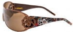 Ed Hardy EHS-038 New York City Sunglasses - Latte/Brown