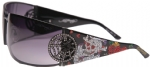 Ed Hardy EHS-039 Love Kills Slowly 3 Sunglasses - Black/Grey