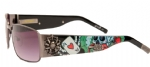 Ed Hardy EHS-041Catcher Sunglasses - Gunmetal