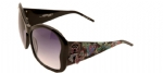 Ed Hardy EHS-049 Butterfly Sunglasses - Black