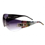 Ed Hardy EHS052 Sunglasses - Black