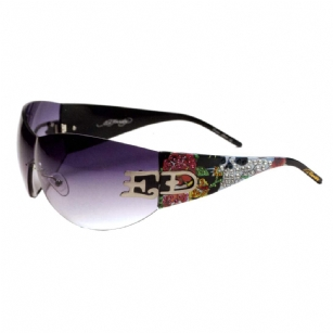 Ed Hardy EHS052 Sunglasses - Black - The Ed Hardy�EHS052 Sunglasses is a beautiful fashionable sunglasses designed by Ed Hardy and marketed by Christian Audigier. The�Ed Hardy designer sunglasses features� SWAROVSKI CRYSTALS.