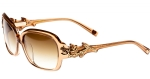 Ed Hardy EHS Rose With Thorns Women's Sunglasses - Tan Crystal