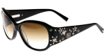 Ed Hardy EHS Sakura Flowers Women's Sunglasses - Black
