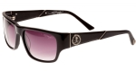 Ed Hardy EHS Skull & Crossbones Men's Sunglasses - Black