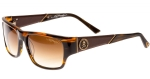 Ed Hardy EHS Skull & Crossbones Men's Sunglasses - Brown Horn
