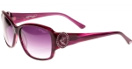 Ed Hardy EHS Soaring Butterflies Women's Sunglasses - Purple Horn