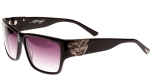 Ed Hardy EHS Tiger Mouth Men's Sunglasses - Black