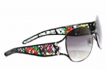 Ed Hardy EHT-905 Sunglasses - Black