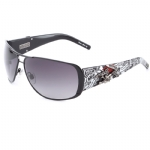 Ed Hardy EHT-909 Sunglasses - Black