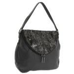 BCBG Generation Erin Hobo Bag- Charcoal Combo