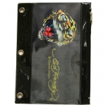 Ed Hardy Edie Tiger 3D Pencil Pouch - Black