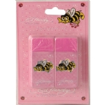 Ed Hardy  Lily Bee Eraser For Girls - Pink