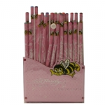 Ed Hardy Rose Color Pencil Set For Girls - Pink