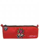 Ed Hardy Jude Eternal Love Small Pencil Case - Red