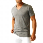 Bottoms Out V Neck Grey T Shirt