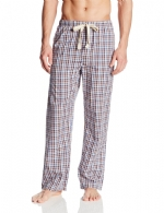 Bottoms Out Men's Woven Pajama Lounge Pants - Navy Green