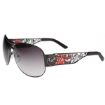 Ed Hardy EHT-902 Sunglasses - Black