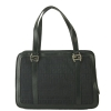 Fendi 8BL075 Zucchino Tube Duffel Bag - Black