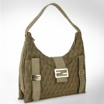 Fendi 8BR522 Zucchino Sweet Hobo Bag - Two-Tone Khaki