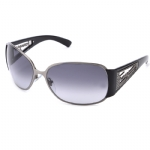 Ferragamo 1158-B 821/11 Designer Sunglasses - Metal/Black