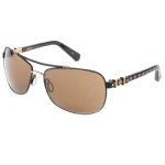 Affliction Goliath Sunglasses - Black/Ant. Gold