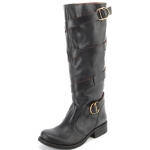 Steve Madden Hannnah Leather Boots -Black