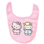 Hello Kitty Rib Baby Bib-Pink