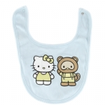 Hello Kitty Rib Baby Bib-Blue