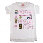 Hello Kitty Short Sleeve T- Shirt-Off White