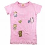 Hello Kitty Toddlers Short Sleeve T- Shirt-Pink