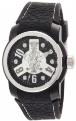 Christian Audigier Intensity  Black Gears Watch - Black