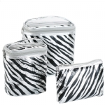 4 Piece Cosmetic Set - Silver