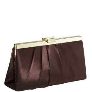 Jessica McClintock J460370 East/West Satin Clutch -Bronze/Gold - The Jessica McClintock J46370 East/West Satin Clutch is a stylish clutch that can be converted to a small shoulder bag. This fashionable Jessica McClintock purse is made of high quality satin and is part of Jessica McClintock's designer evening bag collection.