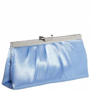 Jessica McClintock J460370 East/West Satin Clutch -Peri/Silver - The Jessica McClintock J46370 East/West Satin Clutch is a stylish clutch that can be converted to a small shoulder bag. This fashionable Jessica McClintock purse is made of high quality satin and is part of Jessica McClintock's designer evening bag collection.